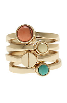 Stackable Stone Rings