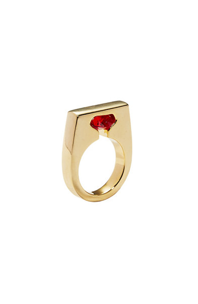 Cut Out Stone Ring