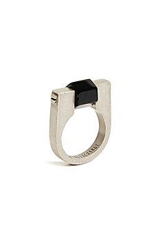 Onyx Cube Ring