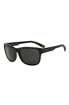 Two-Tone Logo Wayfarer Sunglasses