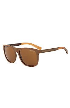 Bicolor Square Plastic Sunglasses