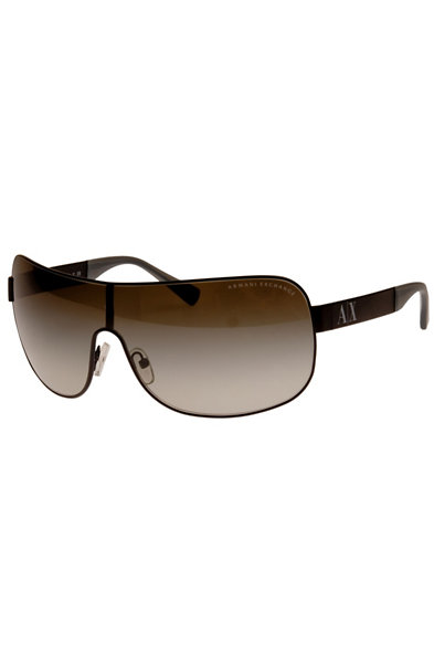 Unisex Metal Shield Sunglasses