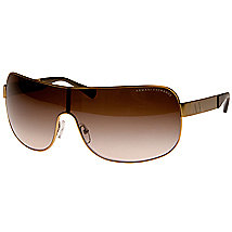 Unisex Metal Shield Sunglasses