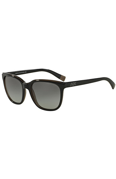Women's Two-Tone Logo Wayfarer Sunglasses