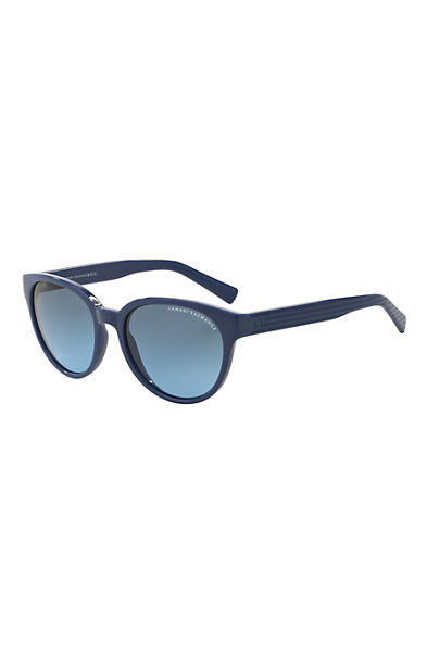 Striped Logo Wayfarer Sunglasses