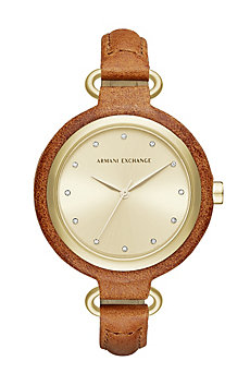 Tan Skinny Leather Band Watch
