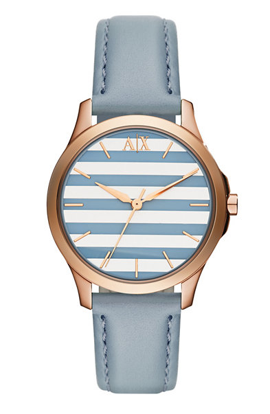 Blue Stripe Leather Watch