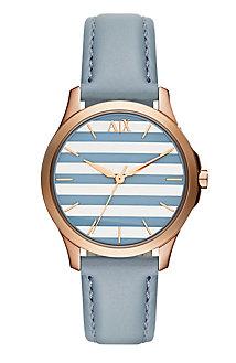 Blue Stripe Leather Watch