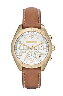 Sarena Cognac Leather Strap Watch