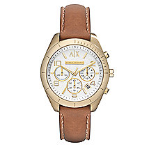 Sarena Cognac Leather Strap Watch