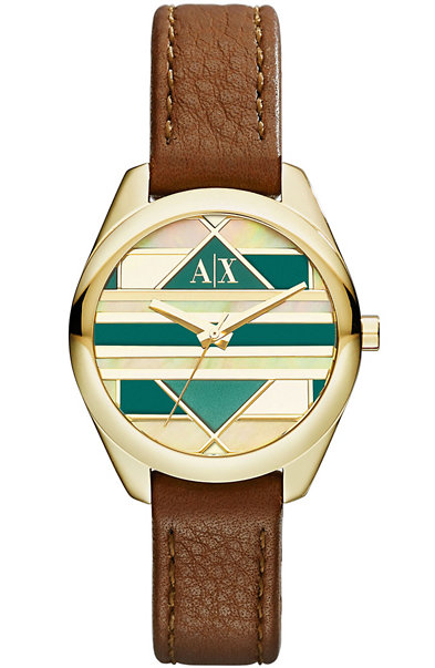 Gold & Leather Sarena Watch