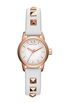 Studded Leather Band Watch