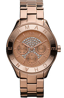 Rose Gold Pave Face Watch