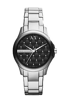 Quilted Silver Watch