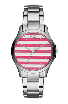Pink Stripe Women's Watch