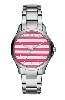 Pink Stripe Women's Watch
