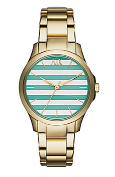 Green Stripe Dial Watch