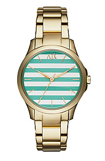 Green Stripe Dial Watch