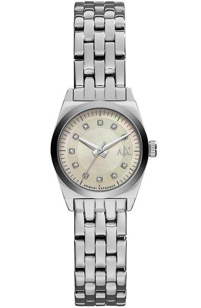 Stainless Steel Rhinestone Digit Watch
