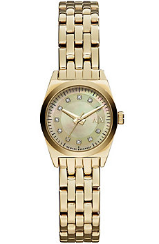 Gold Rhinestone Digit Watch