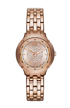 Rose Gold Pave Center Watch