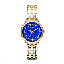 Gold Contrast Face Watch