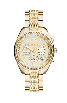 Gold Pave Bracelet Watch