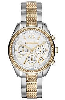 Gold Detail Women's Watch