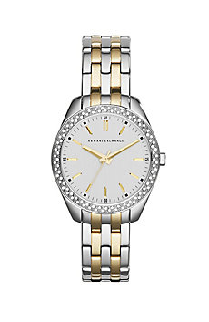 Two Tone Pave Watch
