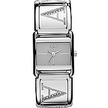 Silver Square Metal Watch
