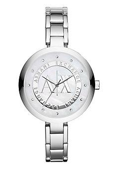 Silver Logo Women's Watch