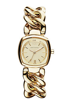 Gold Twisted Bracelet Watch