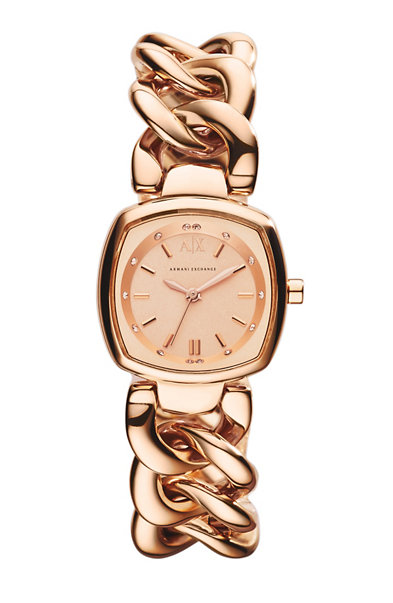 Rose Gold Twisted Bracelet Watch