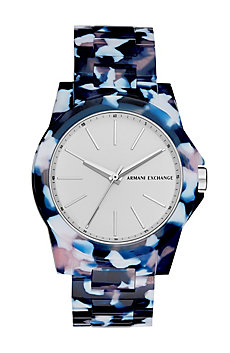 Abstract Plastic Print Watch