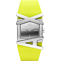 A|X Neon Yellow Rubber Strap Watch