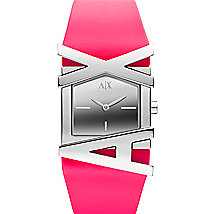 A|X Neon Pink Rubber Strap Watch
