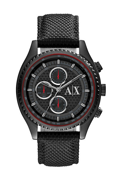 Textured Nylon Matte Black Watch