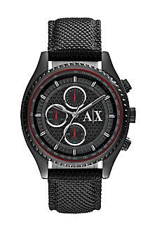 Textured Nylon Matte Black Watch