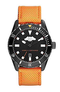 Orange Nylon Watch