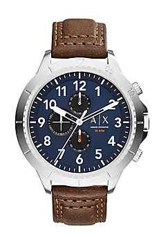 Leather Aeroracer Watch