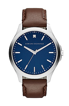 Bright Blue Leather Band Watch