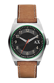 Men's Medium Brown Leather Watch