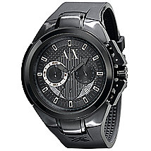 Black Steel Chronograph Watch