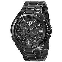 Black Chronograph Sport Watch