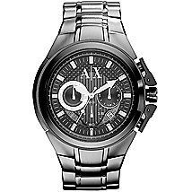 Silver Metal Chronograph Watch