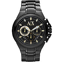 Black Chronograph Bracelet Watch