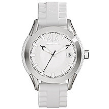 White Rubber Strap Watch