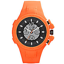 Neon Orange Rubber Watch