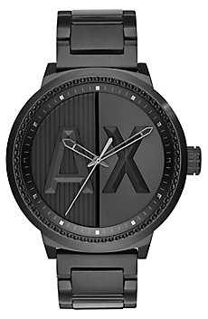 Black Metal Logo Watch