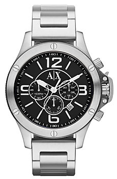 A|X Silver Chrono Bracelet Watch